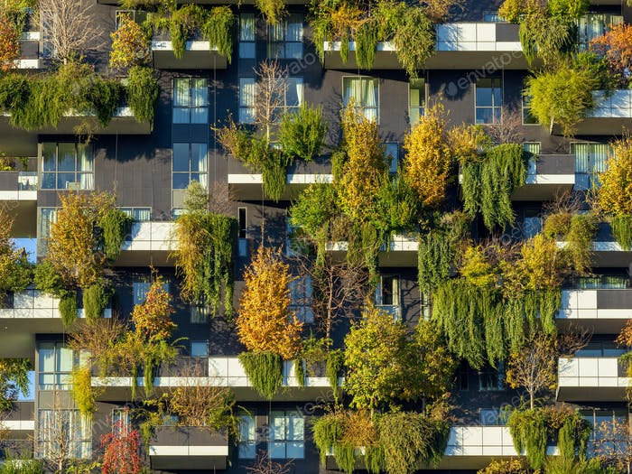 Bosco Verticale, modern buildings in Milan