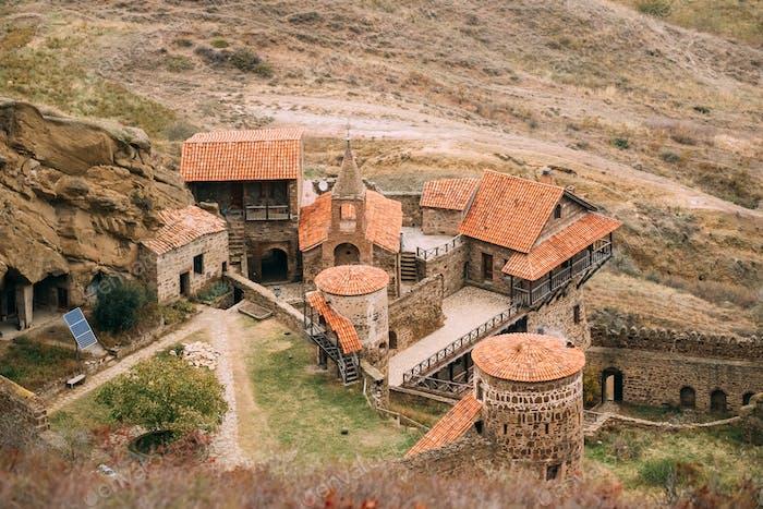 Kakheti Region, Georgia. Ancient Rock-hewn Georgian Orthodox Dav
