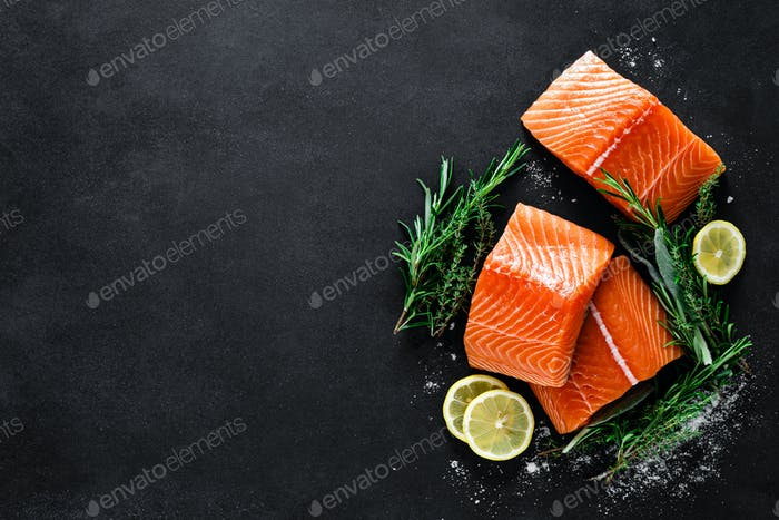 Thumbnail for Salmon. Fresh raw salmon fish fillet