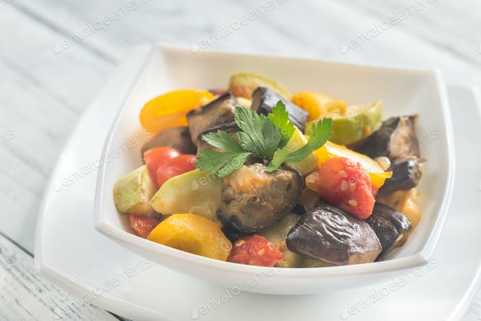 Bowl of ratatouille
