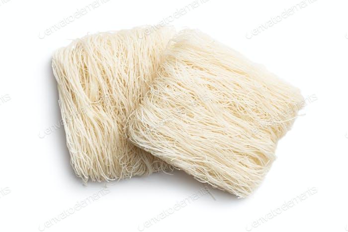 Ungekochte weiße Reisnudeln
