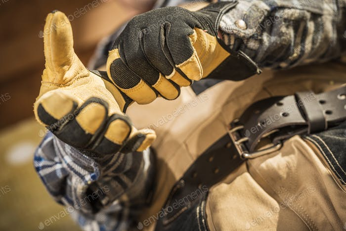 Safety Gloves Wearing