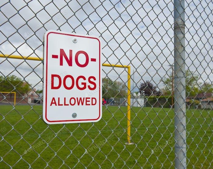 45870, señal de No Dogs Permitido