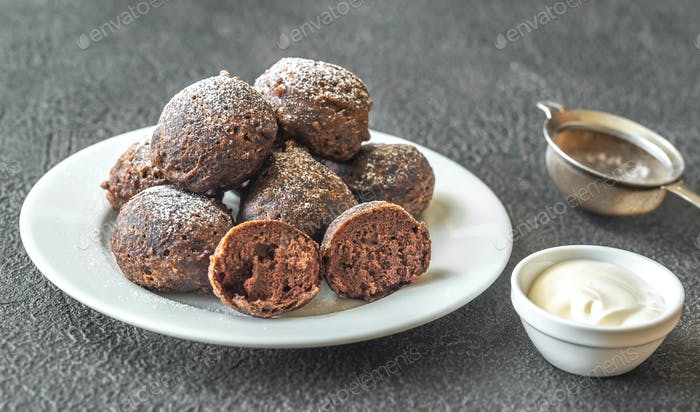 Chocolate pancake puppies