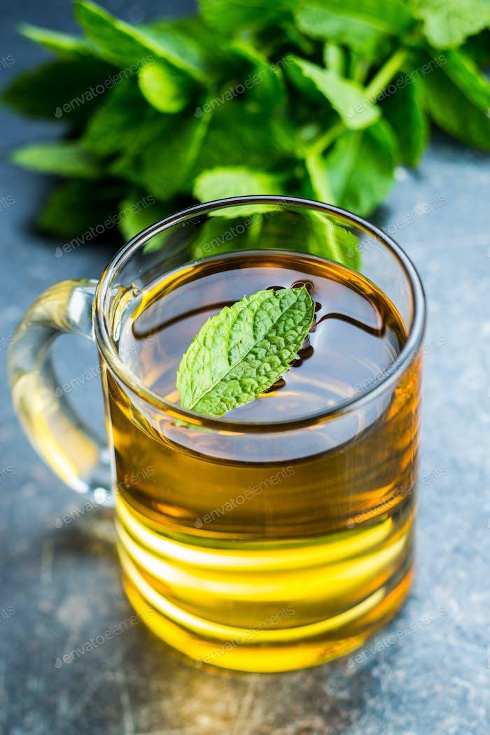 Tasty mint tea.