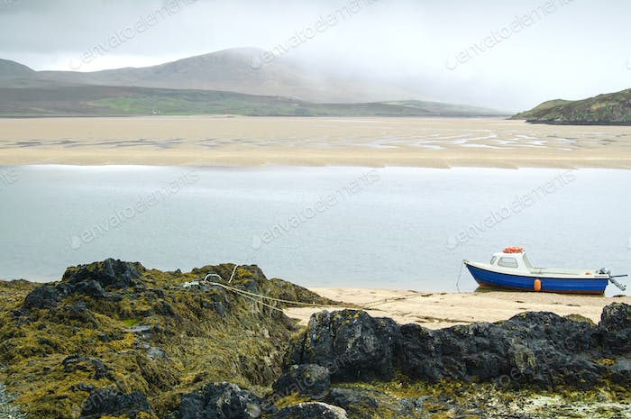 Kyle of Durness Balnakeil bay beach. Highlands of Scotland