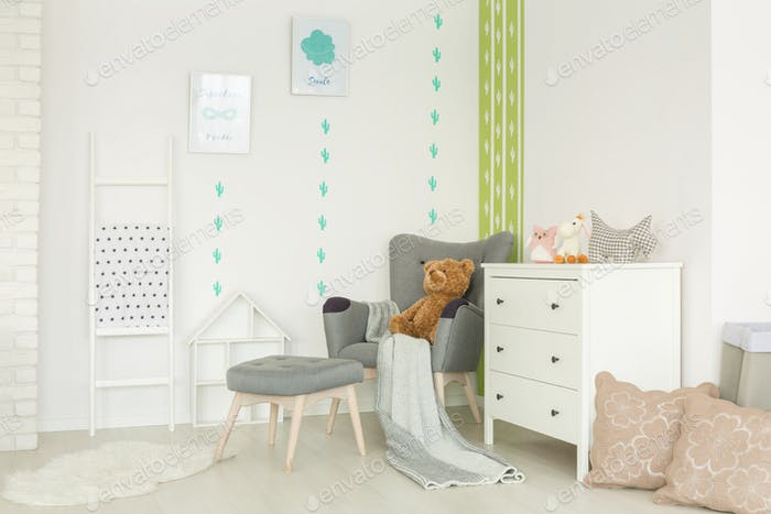 Child room with cactus decor