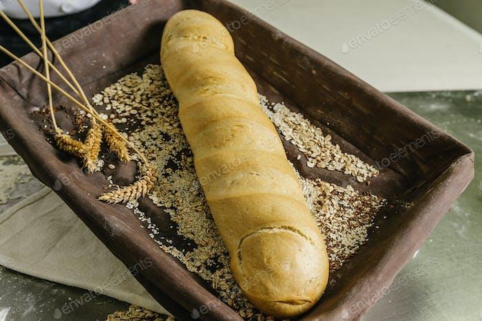 Stillleben des Brotes.
