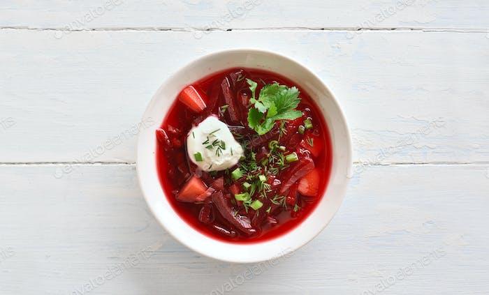 Beetroot soup, borscht
