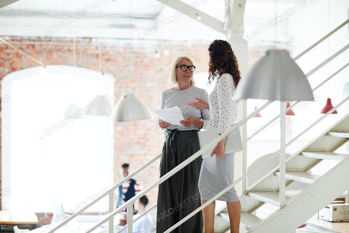 Businesswomen at modern office