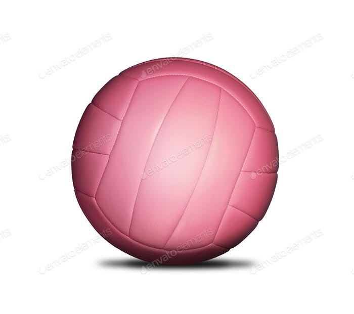 Volleyball red ball isolated on white background
