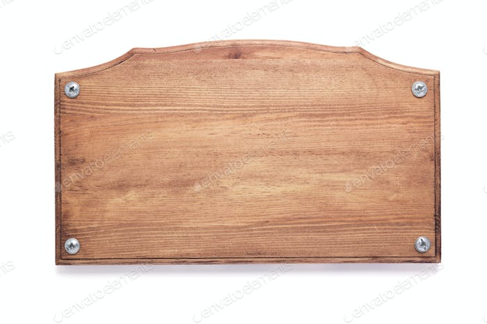 wooden nameplate or wall sign