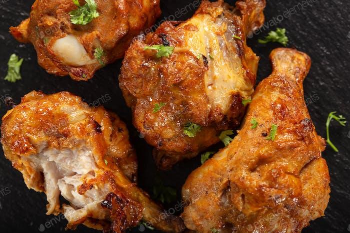 Palillo de pollo asado