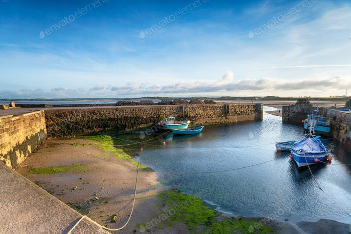 Beadnell Harbour on the Northumberland coast