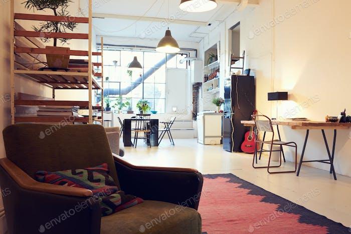 Offener Wohnbereich In Moderne Wohnung Umbau