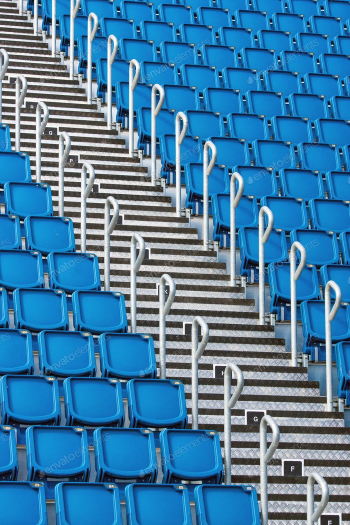 Stadium seats and staircase