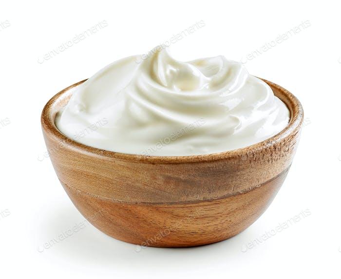 Schüssel Sauerrahm oder Joghurt