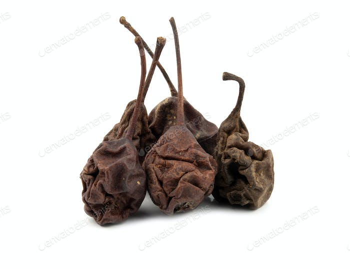 dried pears isolated