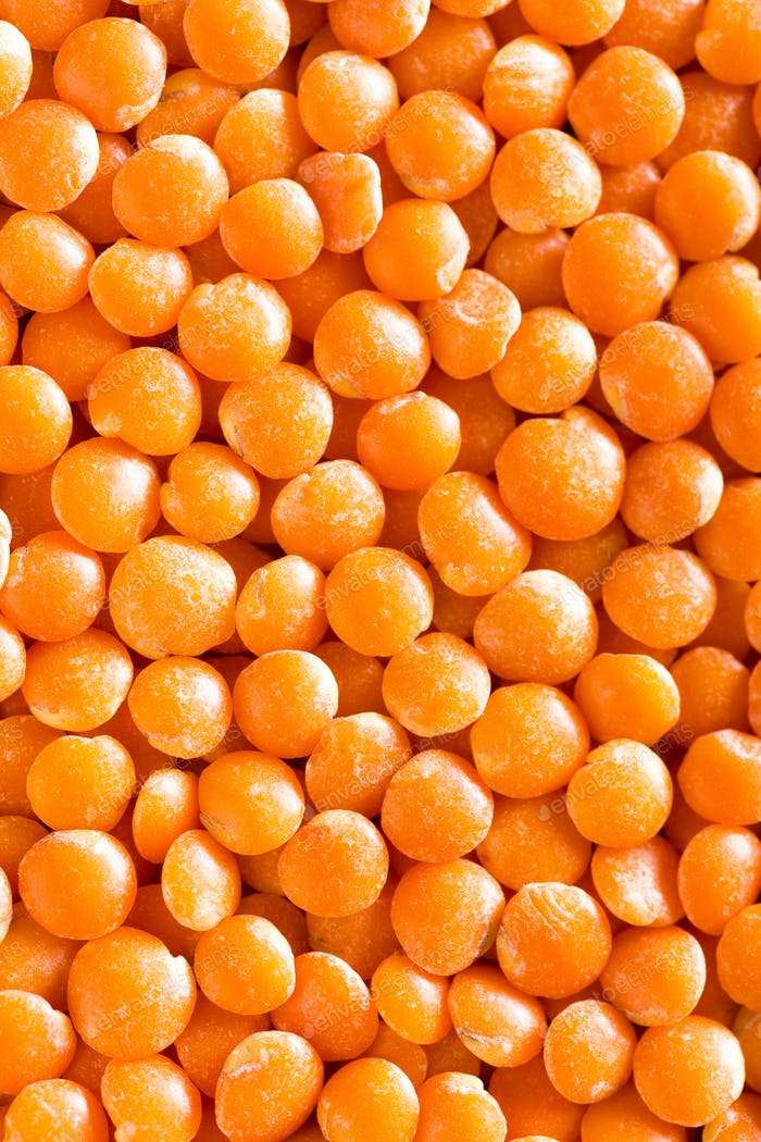 Raw lentil background. Fresh lentils isolated. Vegetarian food. Top view