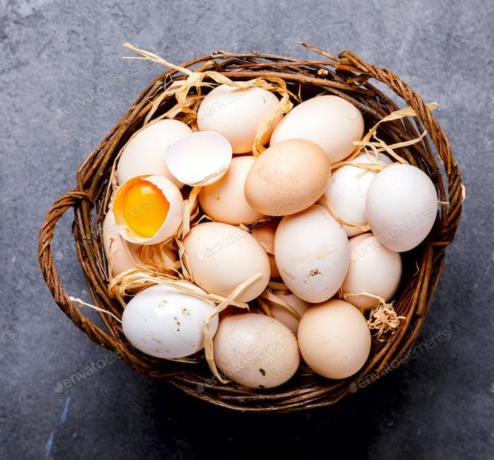 Eier Huhn Hausgemacht
