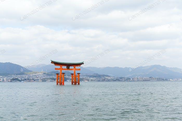Floating torii gate in Itsukushima
