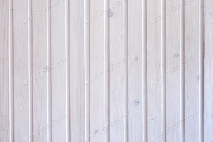 Background texture of a white painted wooden wall