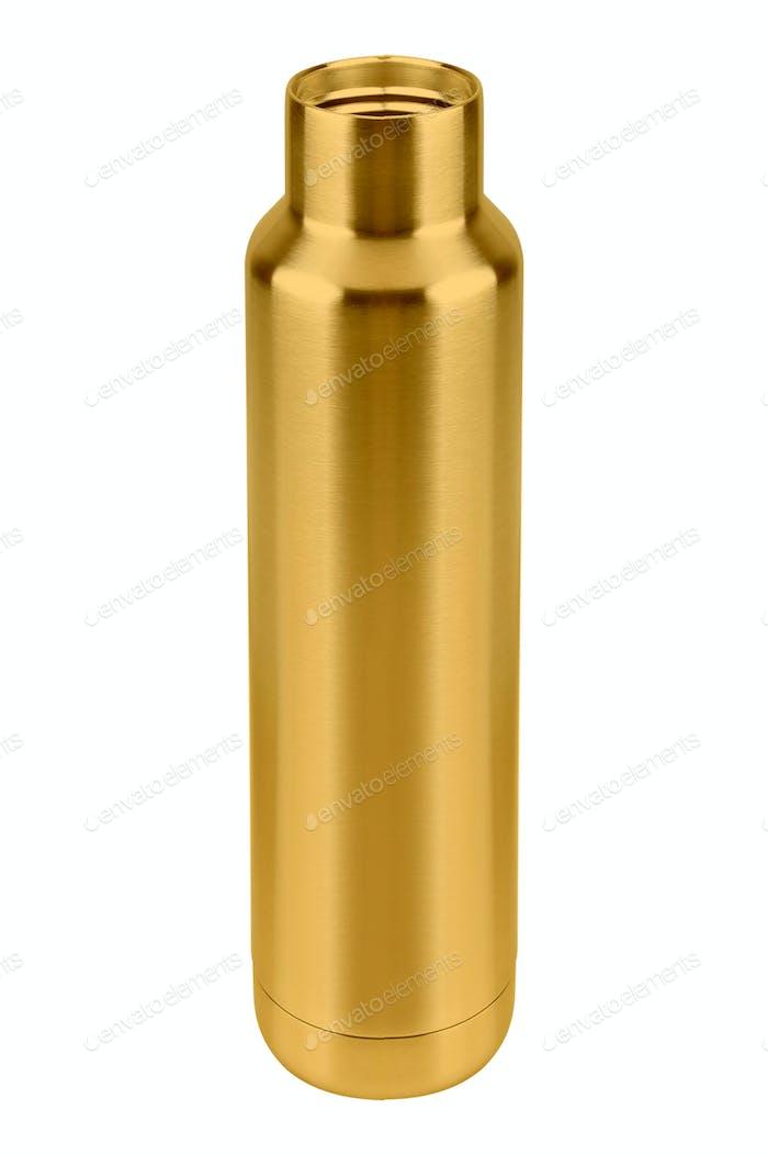 Metall-Thermoskanne isoliert auf weiß
