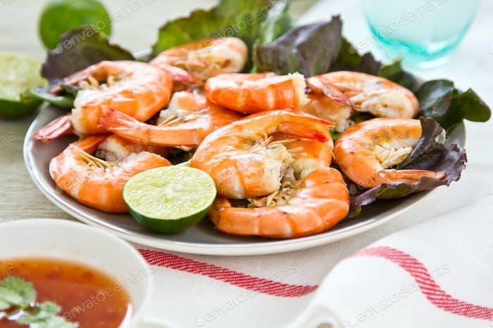 Steamed prawn