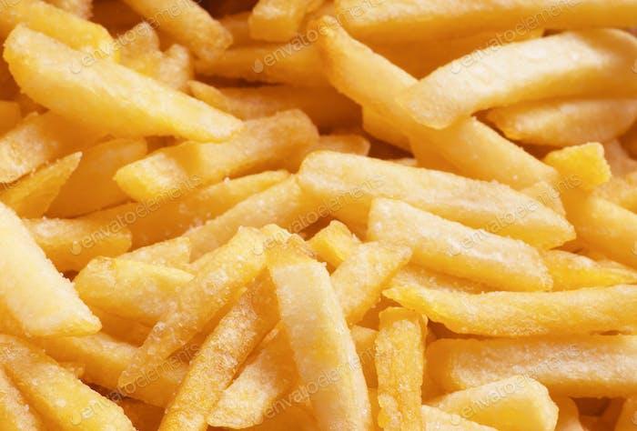 Haufen goldenen Fast-Food-Pommes frites