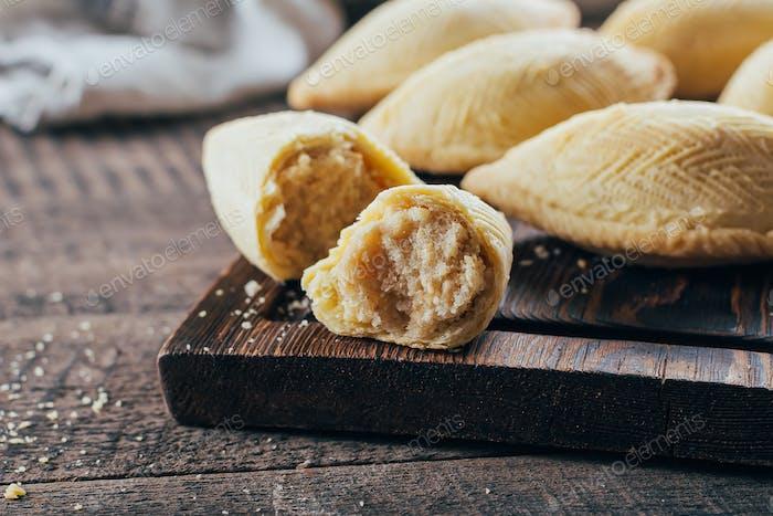 Oriental Sweet Pastry Dessert - Shekerbura. Azerbaijan national dessert