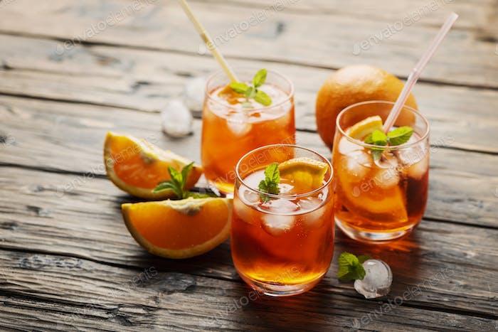 Aperol Spritz with orange