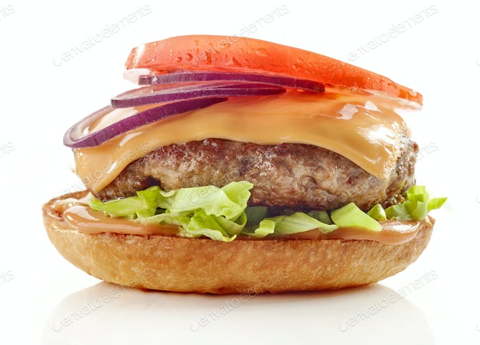 process of making burger