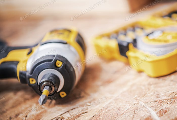 Portable Cordless Power Power Drill And Bits.