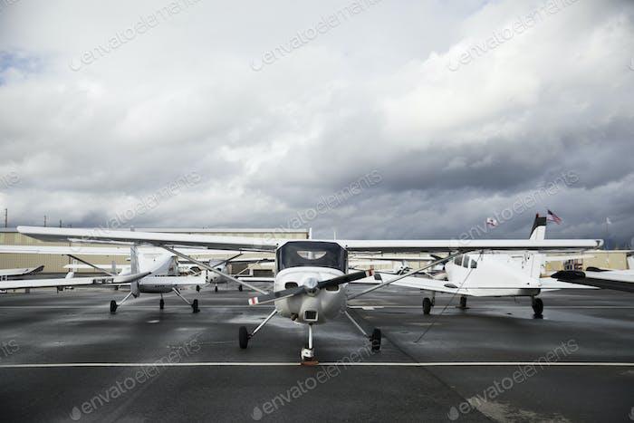 Propeller plane on the tarmac
