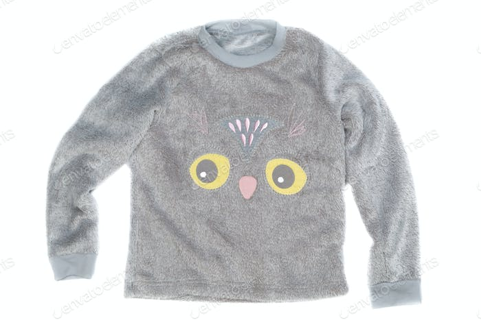 Plush Children gray jacket, isolate