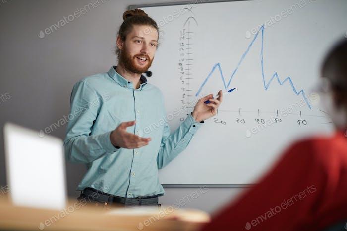 Contemporary Man Giving Presentation