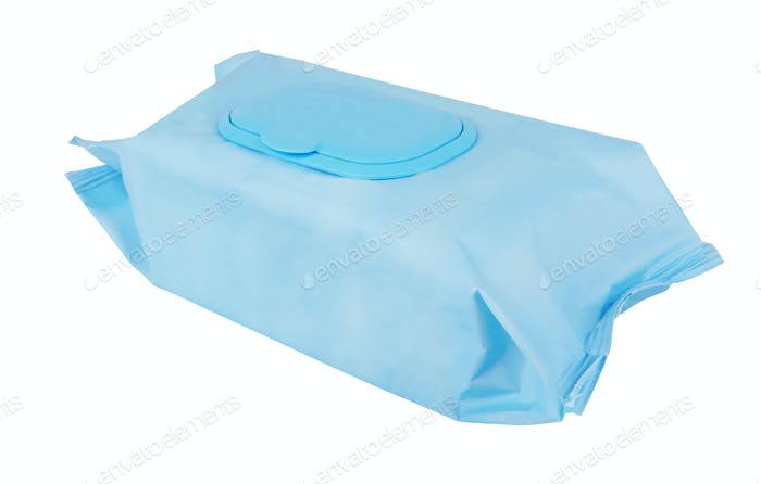 Tissue box on white