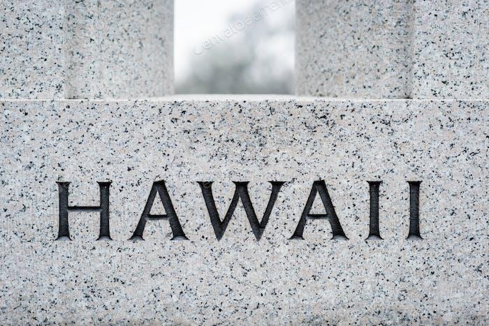 """Hawaii"" Engraving"
