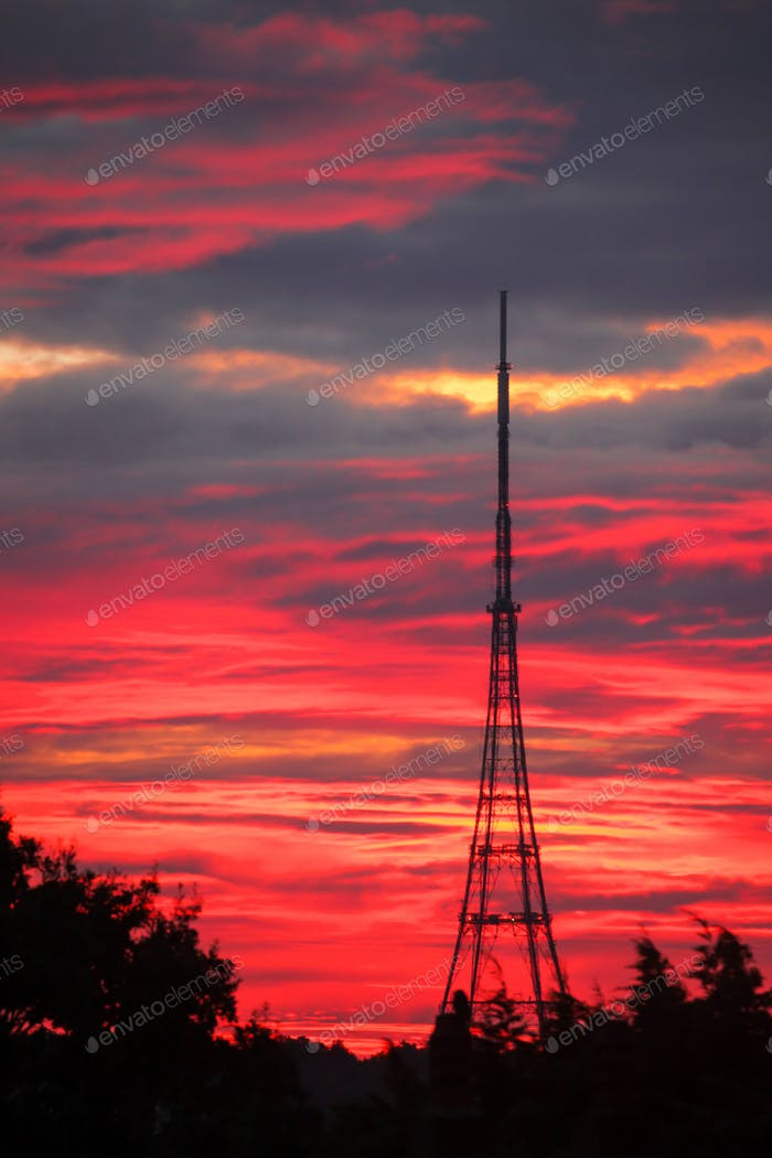 Transmitting Station at sunrise