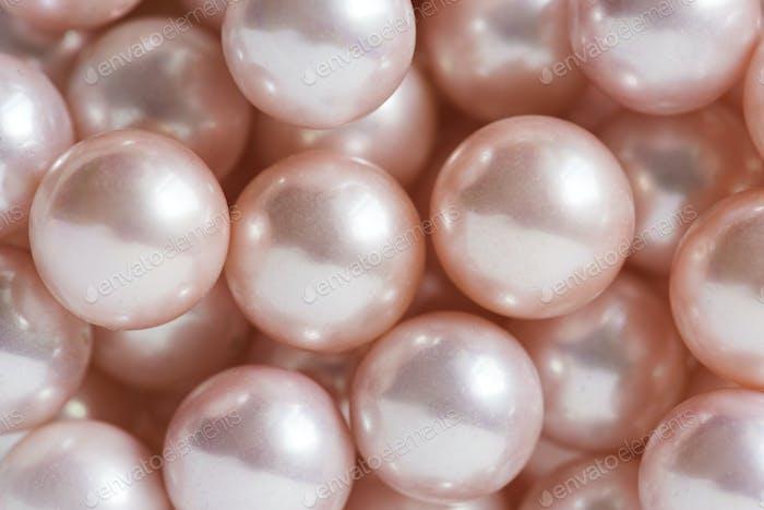 Natural pearls closeup