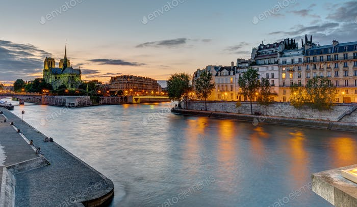 Beautiful evening in Paris, France