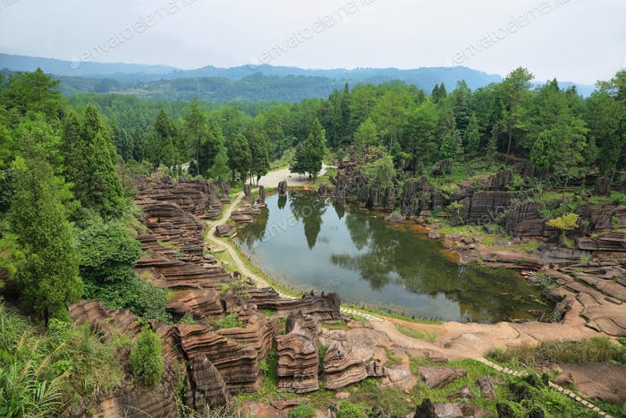 Hongshilin national park in Hunan province,