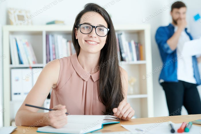 Contemporary Young Woman in College