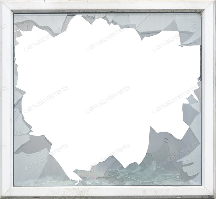 Isolated Smashed Glass