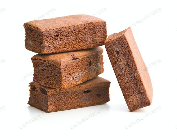 Sweet chocolate brownies.