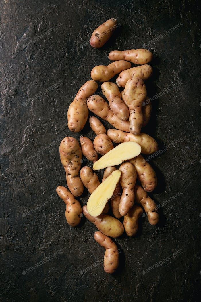 Raw potatoes bayard