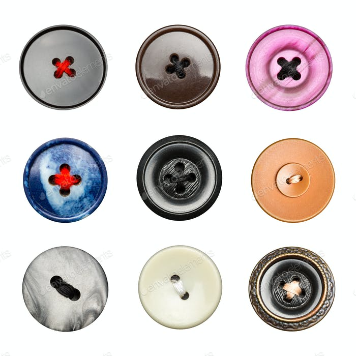 Big colorful buttons