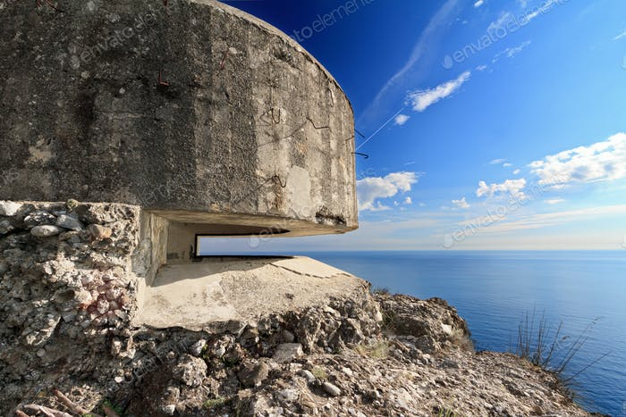 bunker over the sea