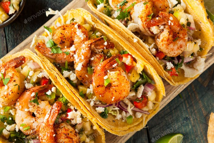 Homemade Spicy Shrimp Tacos