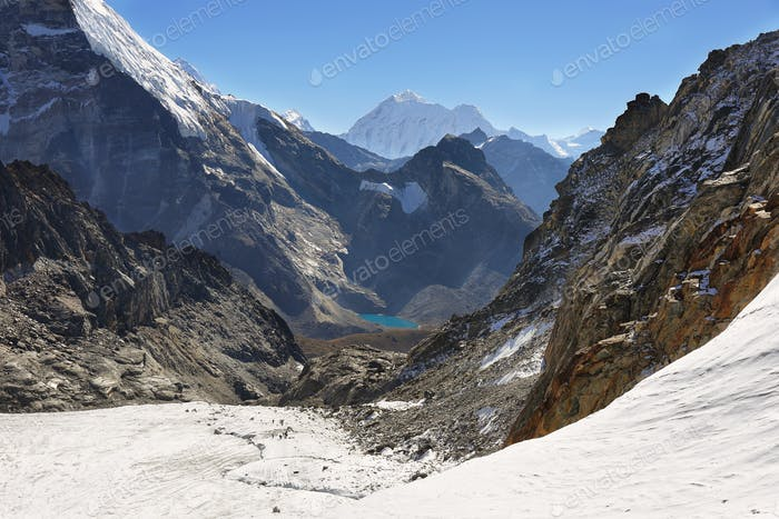 Cho La pass in Everest region, Nepal